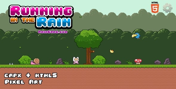 Running in the Rain - Html5 Game - CodeCanyon Item for Sale