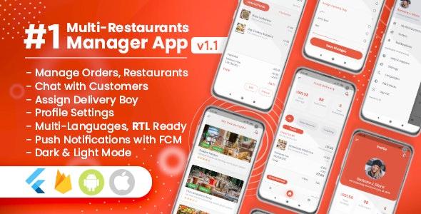Manager / Owner for Multi-Restaurants Flutter App - CodeCanyon Item for Sale