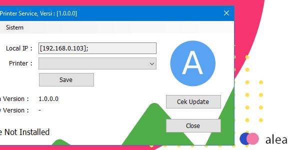 Alea POS Printer Service - CodeCanyon Item for Sale