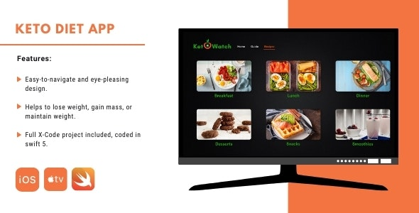 Keto diet for Apple TV - CodeCanyon Item for Sale