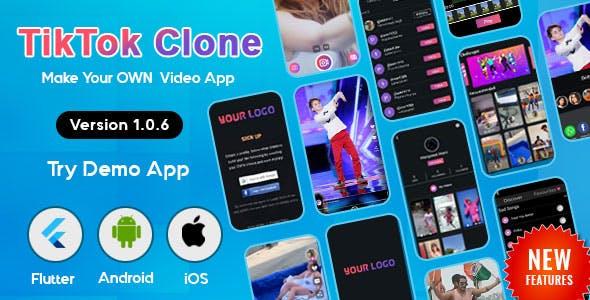 Flutter - TikTok   Triller Clone & Short Video Streaming Mobile App for Android & iOS