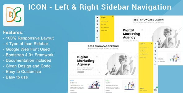 ICON - Right & Left Sidebar Navigation - CodeCanyon Item for Sale