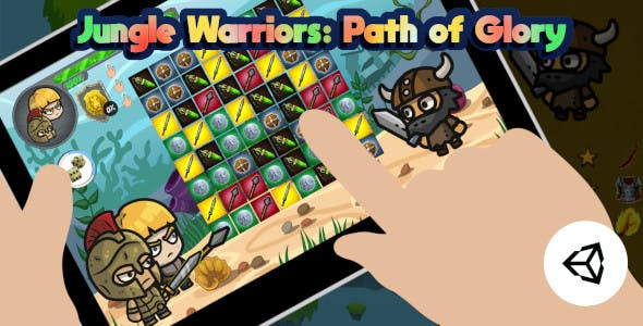 Jungle Warriors: Path of Glory | Unity Math 3 Complete Project With Admob for Android and iOS