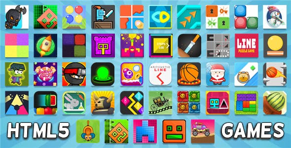 45 HTML5 GAMES IN 1 BUNDLE (CONSTRUCT 3 / CONSTRUCT 2 / CAPX / C3P) NEW!