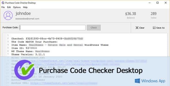 Purchase Code Checker Desktop