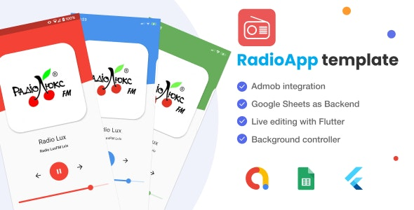 Flutter Radio App with Google Sheets as Backend - Admob - CodeCanyon Item for Sale