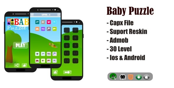 Baby Puzzle Game HTML5 Capx File - CodeCanyon Item for Sale