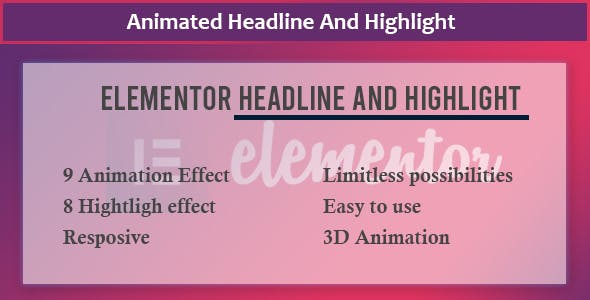 Elementor - Animate Headline And Highlight Extension
