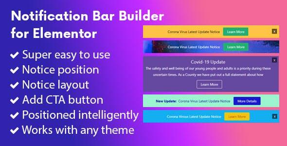 Notification Bar Builder for Elementor