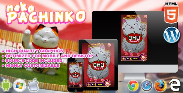 Neko Pachinko - HTML5 Casino Game - CodeCanyon Item for Sale