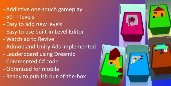 Unity game Template - Blocky Holes