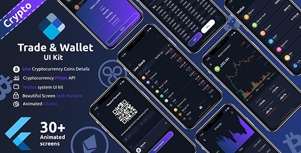 Crypto Trade & wallet Flutter UI kit - CodeCanyon Item for Sale