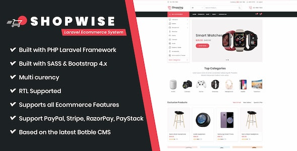 Shopwise - Laravel Ecommerce System - CodeCanyon Item for Sale