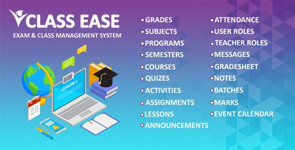 Class Ease - Exam and Class Management System - CodeCanyon Item for Sale