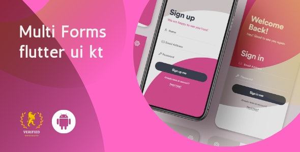 Multi Forms android UI  kit flutter - CodeCanyon Item for Sale