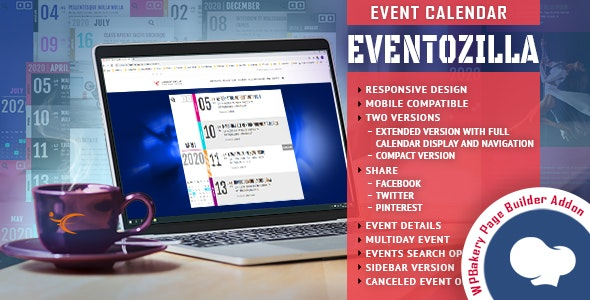 EventoZilla - Event Calendar - Addon For WPBakery Page Builder (formerly Visual Composer) - CodeCanyon Item for Sale
