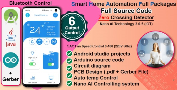 Complete Home Automation Android App & Circuit + Gerber - CodeCanyon Item for Sale