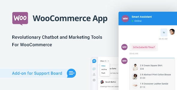 WooCommerce Chat Bot & Marketing App for Support Board - CodeCanyon Item for Sale