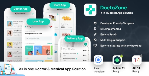 Nearby Doctor App| Online Medicine | Doctor Appointment Booking App |Android + iOS Template| IONIC 5 - CodeCanyon Item for Sale