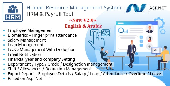 HRMS - Human Resource Management System, Manage Employee Payroll Salary ZkTeco BioMetric attendance