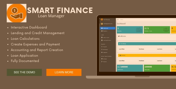 Smart Finance Loan Manager in ASP.NET Core - CodeCanyon Item for Sale