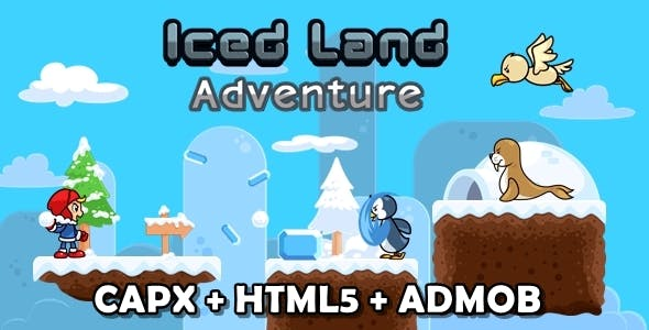 Icedland Adventure - Html5 Game