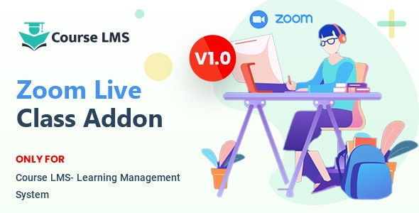 Course LMS Zoom Live Class Addon - CodeCanyon Item for Sale