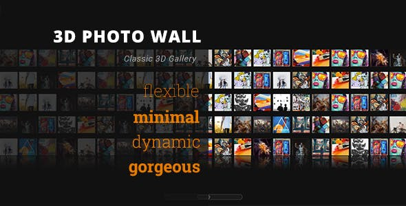 3D Photo Wall - Advanced Media Gallery