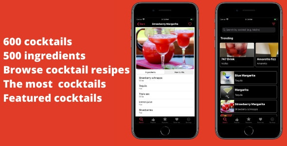 Cocktail Recipes: Mixed Drinks - CodeCanyon Item for Sale