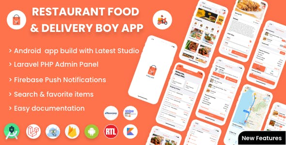 Single restaurant Android food ordering app with Delivery Boy and Admin Panel