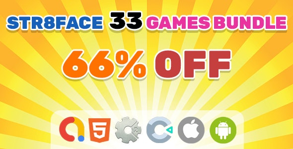 Bundle #5 33 Games | HTML5 | Construct 2 | Construct 3 - CodeCanyon Item for Sale