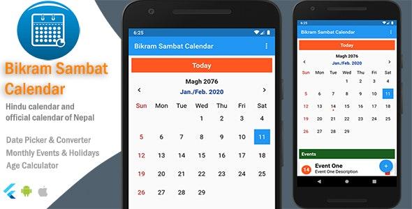 Bikram Sambat Calendar - Flutter - CodeCanyon Item for Sale
