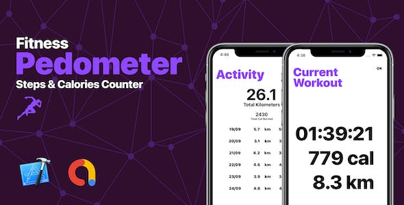 Pedometer - Fitness Steps & Calories Counter App with AdMob