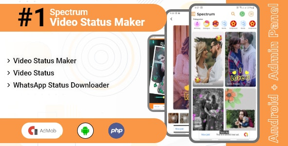Video Status Maker / Add Photos into Videos - Spectrum - CodeCanyon Item for Sale