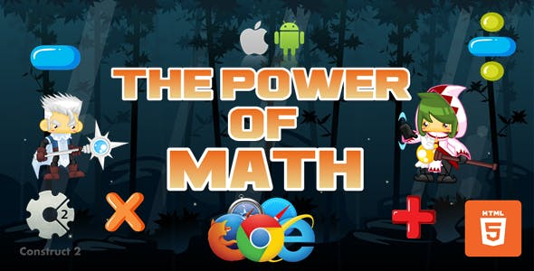 The Power Of Math - Educational Game - HTML5 (.Capx)