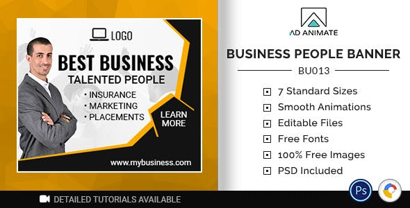 Business Banner | Talented People Ad Template (BU013)