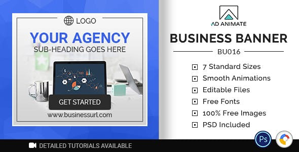 Business Banner | Agency Ad Template (BU016)