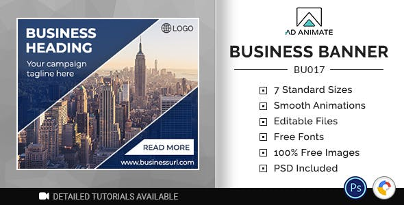 Business Banner | HTML5 Ad Template (BU017)