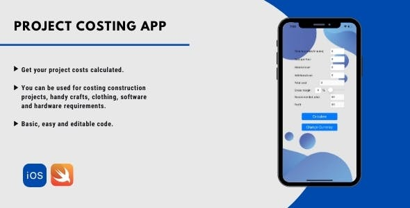 Project costing for ios
