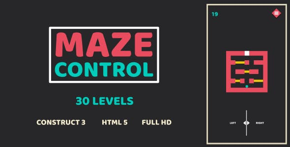 Maze Control - HTML5 Game (Construct3)