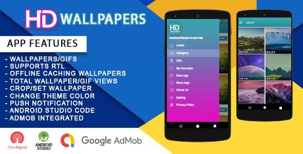 HD Wallpapers + Admob + Control Panel