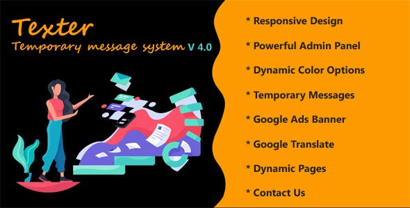 Texter - Temporary message system