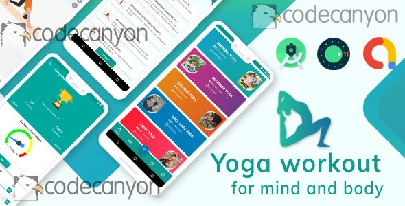 Yoga Workout with admob ready to publish Template - CodeCanyon Item for Sale