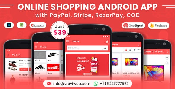 Online Shopping Android App (eCommerce Android App, eCommerce Marketplace App)