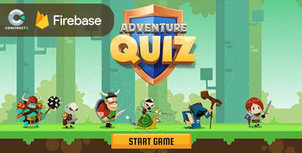 Adventure Quiz - HTML5 Game (Construct 3) + Firebase Leaderboard (No plugin)