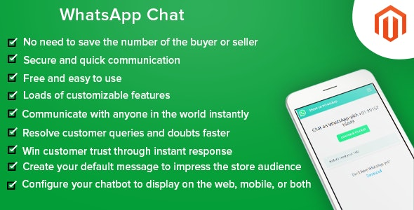 WhatsApp Chat for Magento - CodeCanyon Item for Sale