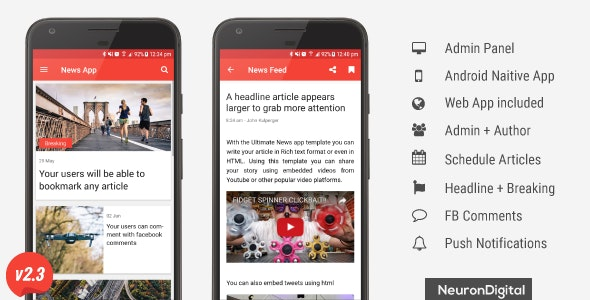 The Ultimate News App Template - CodeCanyon Item for Sale