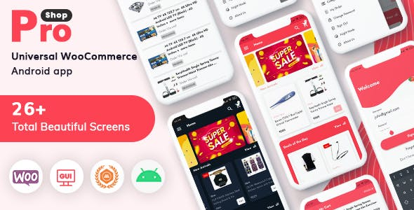 ProShop - WooCommerce Multipurpose E-commerce Android Full Mobile App + kotlin