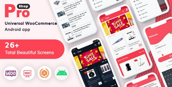 ProShop - WooCommerce Multipurpose E-commerce Android Full Mobile App + kotlin - CodeCanyon Item for Sale
