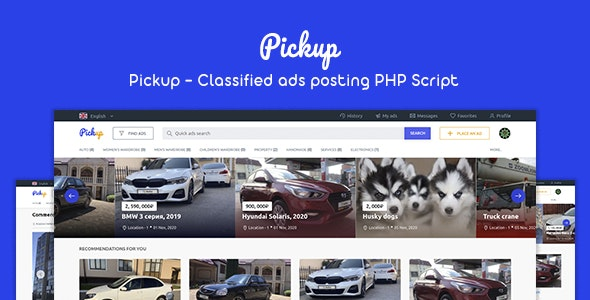 Pickup - Classified Ads Posting PHP Script